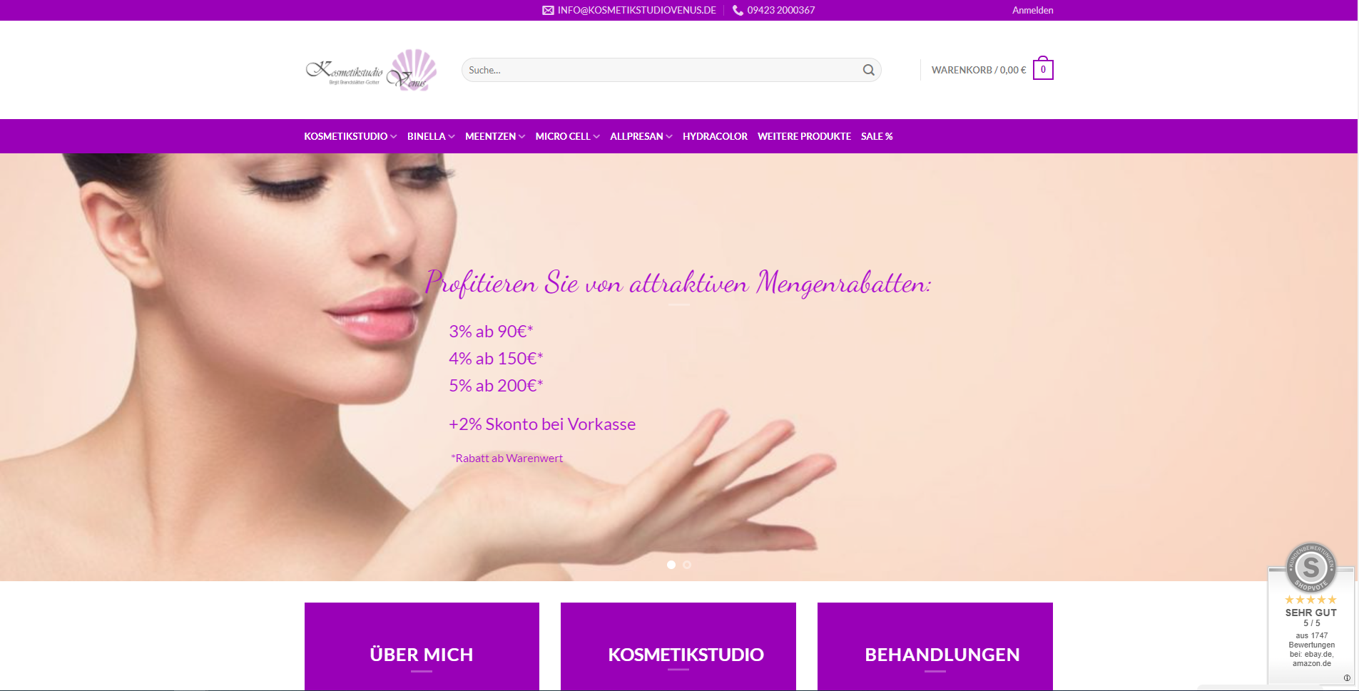 Kosmetikstudio Venus Onlineshop