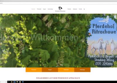 Webseite Pferdehof Aitrachaue